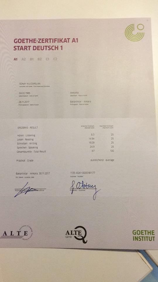 Kasim 2017 Donemi Ogrencilerimiz Belgelerini Aldilar22 A1 Almanca